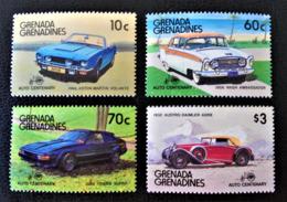 GRENADINES - CENTENAIRE DE L'AUTOMOBILE 1986 - NEUFS ** - YT 711/14 - Grenada (1974-...)
