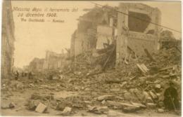 12036 - Messina - Messina Dopo Il Terremoto Del 28 Dicembre 1908 - Via Garibaldi - Rovine - Messina