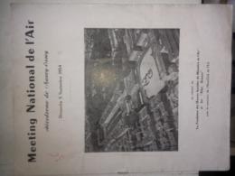 Beau PROGRAMME MEETING AÉRIEN . AERODROME NANCY ESSEY 5 SEPT 1954 - Programmes
