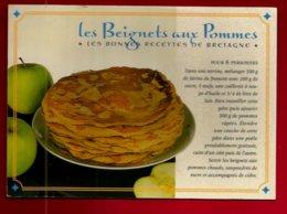 CP Recette De Cuisine Les Beignets Aux Pommes - Bretagne Pomme Beignet Crêpe ... Avec Du Cidre ... - Recettes (cuisine)