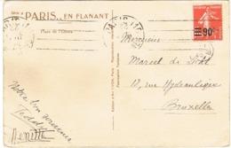 227 SEMEUSE  SEUL SUR CPA POUR LA BELGIQUE - Marcophilie (Lettres)