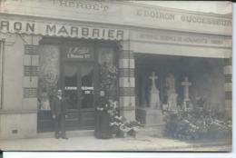 Carte Photo:Emile Boiron Marbrier 133 Rue Thiers à Boulogne Billancourt. - Boulogne Billancourt