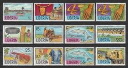 Liberia - 1976-81 - ( Gold Nugget On Chain ) - Complete Set - MNH** - Liberia