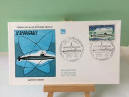 Le Redoutable Lanceur D'engins - 50 Cherbourg - 25.10.1969 FDC 1er Jour Coté 2,20€ - FDC