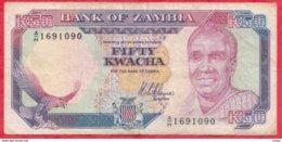 Zambie 50 Kwacha 1989 (Sign 8) Dans L 'état (FORTE COTE EN UNC) N °72 - Zambie