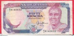 Zambie 50 Kwacha 1989 (Sign 9) Dans L 'état (FORTE COTE EN UNC) N °73 - Zambie