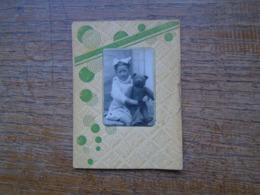 """Petite Photo , D'une Petite Fille """""""" Denise Avec Son Ours , Le 15 Octobre 1941 - Anonieme Personen"""