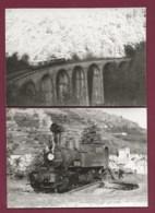 170919 - 2 PHOTOS ANNEES 60/70 - TRANSPORT TRAIN CHEMIN DE FER En SUISSE - Loco 403 Pont - Trains