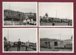 170919 - 4 PHOTOS ANNEES 60/70 - TRANSPORT TRAIN CHEMIN DE FER En SUISSE - Loco 401 413 414 - Trains