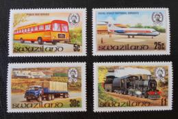 LES TRANSPORTS 1981 - NEUFS ** - YT 364/67 - MI 367/70 - Swaziland (1968-...)