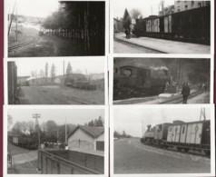 170919 - 6 PHOTOS ANNEES 60/70 - TRANSPORT TRAIN CHEMIN DE FER En SUISSE - Loco 403 404 CFD Passage à Niveau - Trains