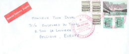 Multi Stamp Special Delivery Exprès Avec Cachet Electronic Mail Du 28 Oct 1986 De Québec Vers La Belgique - Kanada