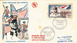 CÔTE FRANCAISE DES SOMALIS - 1960 - FDC - L'administrateur Bernard - French Somali Coast (1894-1967)