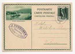 """Schweiz Suisse 1931: Bild-PK CPI """"STEIN-SÄCKINGEN"""" Mit Stempel SENT 1.V.31 (Engadin) Nach Vulpera (Text In Romanisch) - Entiers Postaux"""