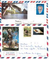 POLYNESIE FRANCAISE - Lot De 2 Lettres  De Papeete Pour La France - Polynésie Française