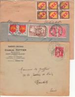 FRANCE - 1935à1948 - Lot De 3 Lettres D'Arras-gare - France