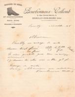 Facture :  Romilly / Seine : Chaussures Sur Mesure - Bourbonneux - Collomb 1908 - 1800 – 1899
