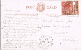 33946. Postal GIBRALTAR 1927 To TANGER, British Post Office. P.O. SS RAMPURA Ship Post India Mail - Gibraltar