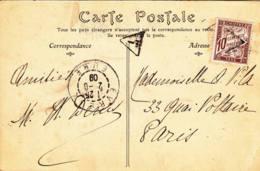 FRANCE - 1909 - Carte Postale Taxée D'Evreux - Postage Due