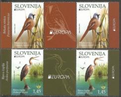 SI 2019-1375-6 EUROPA CEPT, SLOVENIA, 2 X 2v Labels, MNH - Slowenien