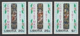 Liberia - 1977 - ( Christmas ) - Complete Set - MNH** - Liberia