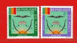 (Mn1) MALI **  -1964 - ARMOIRIES - SERVICE.  Yvert  12-13 - Mali (1959-...)