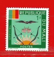(Mn1) MALI **  -1964 - ARMOIRIES - SERVICE.  Yvert  12 - Mali (1959-...)