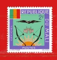 (Mn1) MALI **  -1964 - ARMOIRIES - SERVICE.  Yvert  13 - Mali (1959-...)