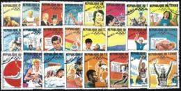 TCHAD - 1968 - N°183/206 Oblitérés - Série Complète 24 Valeurs - RARE - JEUX OLYMPIQUES DE MEXICO - Tsjaad (1960-...)