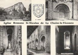 LA CHAIZE LE VICOMTE. - L'Eglise Romane. Multi-vues. CPM - La Chaize Le Vicomte