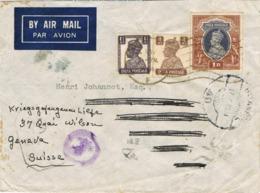 33949. Carta Aerea  CALCUTTA (India Inglesa) 1944. CENSURA, Passed DHP/7. Reexpedité - 1936-47 King George VI