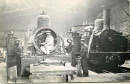 Villefranche Sur Saone  Atelier  Chemin  De Fer Gare  Train Locomotive - Autres