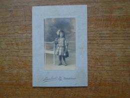 """Carte Photo , Petite Fille """" Photographe Lambert , Sablé Sarthe """" - Scènes & Paysages"""