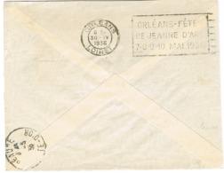 O.MEC FLIER ORLEANS FETES DE JEANNE D'ARC SUR DERRIERE DE LETTRE - Oblitérations Mécaniques (flammes)