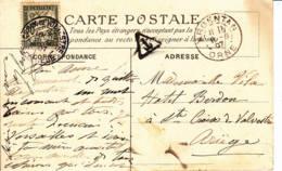 FRANCE - 1907 - Carte Postale Taxée D'Argentan - Segnatasse