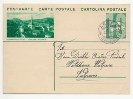 """Schweiz Suisse 1934: Bild-PK CPI """"ROMAINMÔTIER - EGLISE, MUSÉE"""" Mit Stempel ARDEZ 7.VIII.34 (GRAUBÜNDEN) Nach Vulpera - Entiers Postaux"""