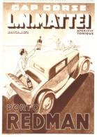 """PUB PORTO  """" REDMAN  """" CAP  CORSE """" L.N MATTEI """"  1933 ( 1 ) - Alcools"""