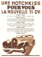 """PUB  VEHICULES  """" HOTCHKISS """" Par JACQUELIN  1933 ( 7 ) - Other"""