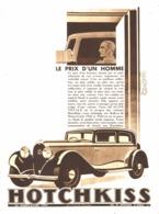 "PUB  VEHICULES  "" HOTCHKISS ""   1933 ( 8 ) - Other"