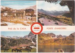 Gf. PAS DE LA CASA. Porte D'Andorre. 4 Vues. 94 - Andorre