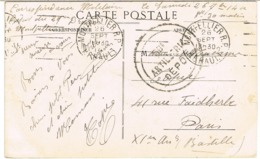 CPA EN FRANCHISE MILITAIRE TAMPON 50E ARTILLERIE DEPOT GARCIA MONTPELLIER - Postmark Collection (Covers)