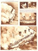 """LE PAQUEBOT  """" L'ATLANTIQUE  """" DETRUIT Par Un INCENDIE   1933 - Boats"""