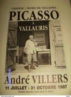 AFFICHE PICASSO A VALLAURIS ORIGINALE PAR ANDRE VILLERS PARFAIT ETAT - Afiches