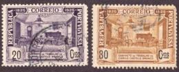 Portugal 1925 - Cent Nascimento De Camilo Castelo Branco 20c E 30c Usados - 1910-... République