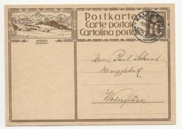 """Schweiz Suisse 1929: Bild-PK CPI """"AMDEN - SKIGEBIET"""" Mit Stempel KALTBRUNN 9.VIII.29 Nach Weinfelden - Interi Postali"""