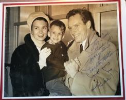CHARLTON HESTON 1923-2008; Lydia; Frasor Clarke Autograph Signed Picture(autographe Hollywood US Actor Acteur De Cinema - Autogramme & Autographen
