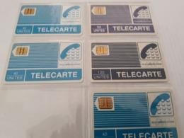 Lot De 5 Telecartes - France