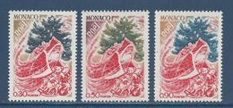 Monaco - YT N° 871 à 873 - Neuf Sans Charnière - 1972 - Nuevos