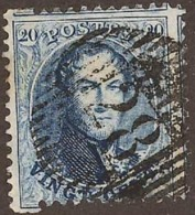 N° 15 A Zegel Met Onvolledige Tanding+afstempeling D 28 Mettet - 1863-1864 Medaillons (13/16)