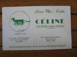 BUVARD - PARIS, PLACE DES TERNES - CELINE, LE BOTTIER DES ENFANTS : AVEC MICKEY LE CHAT - PEU COURANT - Blotters
